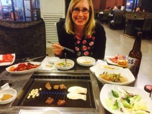 Enjoying a Korean BBQ