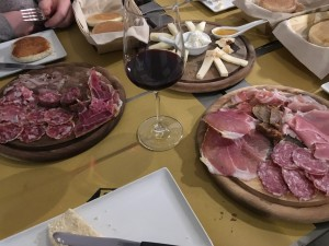 Delicious Italian meats and wine!
